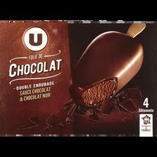 Bâtonnets folie de chocolat U, 4x290g