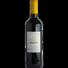 Vin rouge de pays des Portes de la Méditerranée Merlot, 75cl