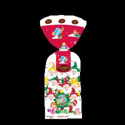 Moulage Père Noël en chocolat au lait décors sapin CEMOI, 150g