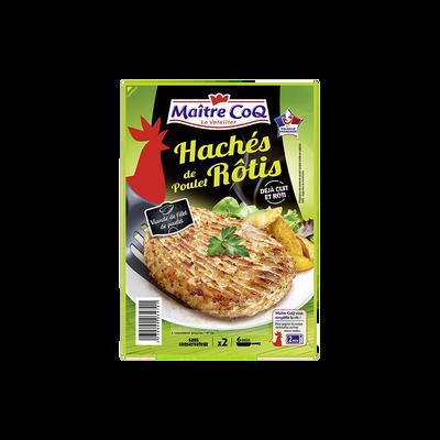 Haché de poulet rôti, MAITRE COQ, 2 pièces, 180g