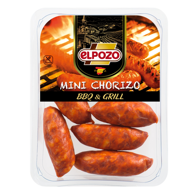 Mini chorizo barbecue EL POZO, 300g
