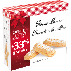 Biscuits à la cuillère BONNE MAMAN, 250g + 33% offert