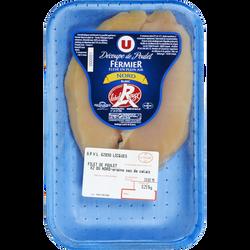 Escalope de poulet fermier, LABEL ROUGE du Nord, France, 2 pièces