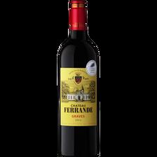 Vin rouge AOP Graves Château Ferrande, 75cl