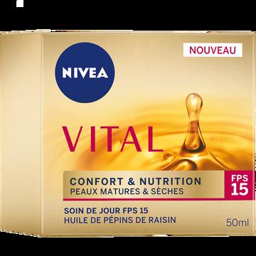 Nivea Soin De Jour Confort+ Nutrition Nivea Vital, Pot De 50ml