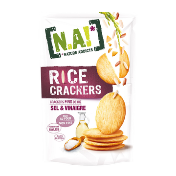 [N.A!] Nature Addicts Rice Crackers Sel Et Vinaigre N.a, 70g