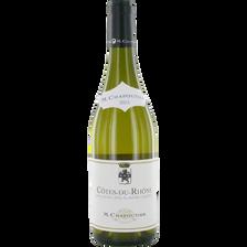 Côtes du Rhône AOP blanc, MICHEL CHAPOUTIER, bouteille de 75cl