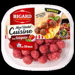 Mon haché cuisine boulettes de boeuf à la bolognaise, BIGARD, France,barquette 280g