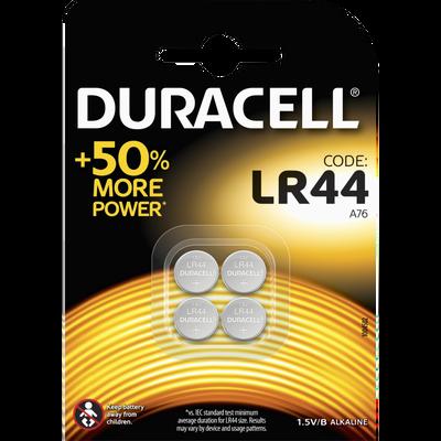 Piles LR44 DURACELL, pack de 4