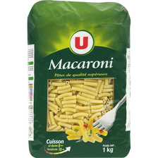 Macaroni qualité supérieure U, sachet de 1kg