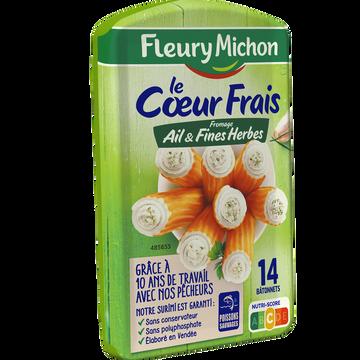 Fleury Michon Bâtonnets De Surimi Au Fromage Ail Et Fines Herbes Fleury Michon, X14soit 224g
