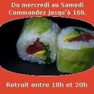 Spring roll 6 pièces,Thon avocat sauce spicy concombre,SUSHI MONT BLANC