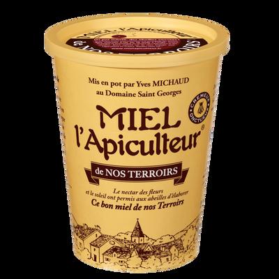 Miel de nos terroirs crèmeux MIEL L'APICULTEUR, pot en carton, 1kg