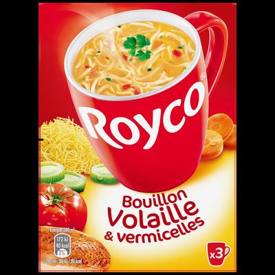 Bouillon de volaille et vermicelles ROYCO Minute soup' 60cl, 3 sachets53g, 60cl