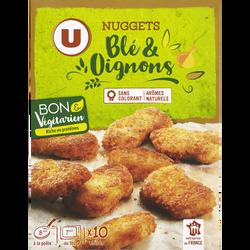 Bouchées panées blé et oignons bon & végétarien UBON & VEGETERIAN, paquet de 200g