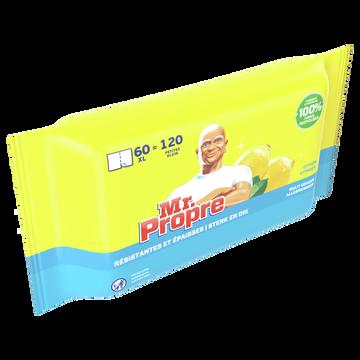 Mr. Propre Lingettes Nettoyantes Citron Mr Propre X60 Xl=120 Petites