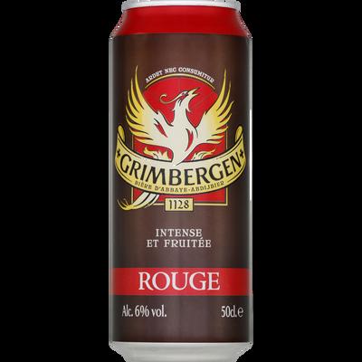Bière Grimbergen aromatisées fruits rouge, 6°, cannette de 50cl l