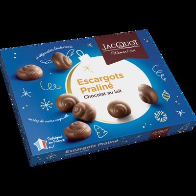 Escargots en chocolat au lait au praliné JACQUOT, 300g