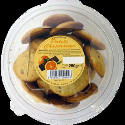 Palets pur beurre chocorange, BISCUITERIE MODERNE, blister, 250g