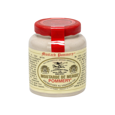 Moutarde de Meaux POMMERY, pot grès et bouchon plastique 100g