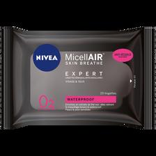 Lingettes démaquillantes micellaire waterproof pour le visage et les yeux NIVEA, x20