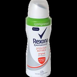 Déodorant pour femme compressé original pro active + REXONA, atomiseurde 100ml