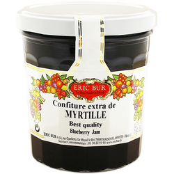 Confiture extra myrtilles ERIC BUR, 370g