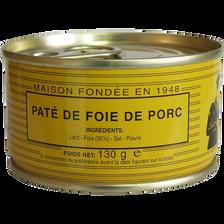 Pâté de foie pur porc LOU GASCOUN, 130g