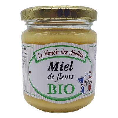 Miel de fleurs de France bio LE VERGER DES ABEILLES, pot de 250g