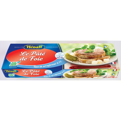 Pâté de foie HENAFF, 3 boîtes de 234g