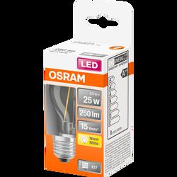 Ampoule led filament OSRAM sphérique 25W culot E27 blanc