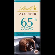 Tablette de Chocolat fin à cuisine 65% de cacao LINDT, 180g