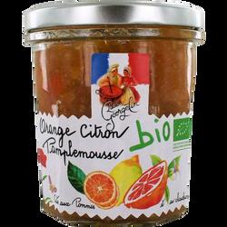 Confiture bio parfum oranges, citron et pamplemousse bio LUCIEN GEORGELIN, 320g