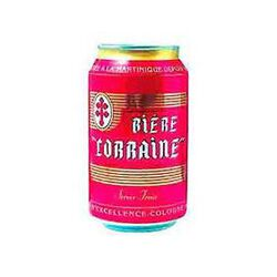 Bière blonde LORRAINE, 5°, boîte de 33cl