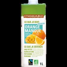 Jus d'orange et mangue Brésil Pérou Bio ETHIQUABLE, 1L