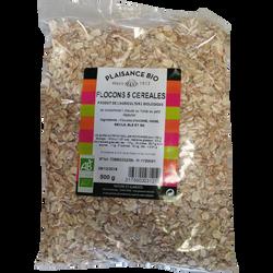 Flocons 5 cereales bio PLAISANCE BIO, 500g
