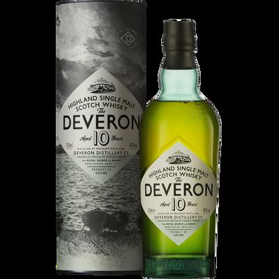 Scotch whisky GLEN DEVERON, 40°, 10 ans d'âge, 70cl sous coffret