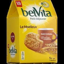 Belvita le moelleux nature Petit Déjeuner LU, paquet x5, 250g