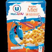 Lou Boules De Céréales Miel U Mat Et Lou, 375g