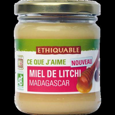 Miel de litchi Madagascar Bio ETHIQUABLE, pot de 250g