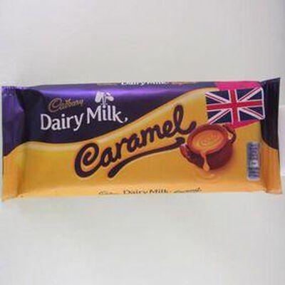 Dairy milk barre chocolatée au caramel CADBURY,120g