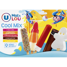 Assortiment glaces cool mix U MAT & LOU, 10 unités, 460g