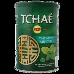 Thé vert à la menthe impériale Tchaé LIPTON, 25 sachets, 50g