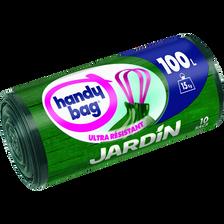 Sacs poubelle pour jardin poignées coulissantes HANDY BAG, 100l, x10