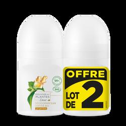 Déodorant femme bio pouvoir des plantes gingembre DOVE, 2x50ml