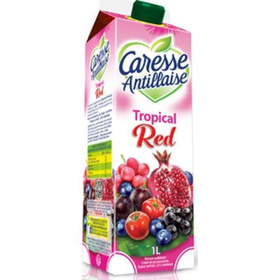 Boisson tropical red, CARESSE ANTILLAISE, brique de 1l