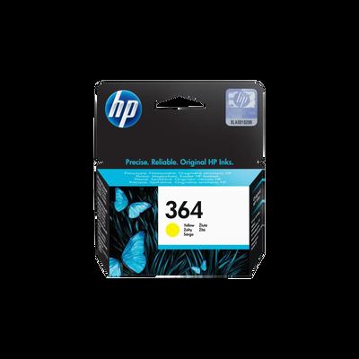 Cartouche d'encre HP pour imprimante, CB320EE jaune n°364, sous blister