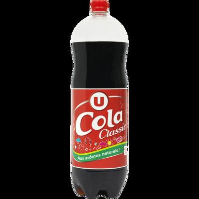 Boisson gazéfiée saveur cola avec sucre et édulcorant 2L