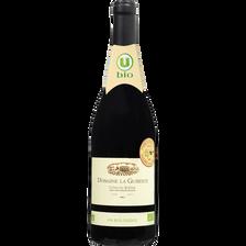 Vin rouge AOP Côtes du Rhône Domaine La Guiberte U BIO, 75cl