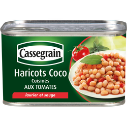 Haricots coco cuisinés aux tomates, laurier et sauge CASSEGRAIN, 435g
